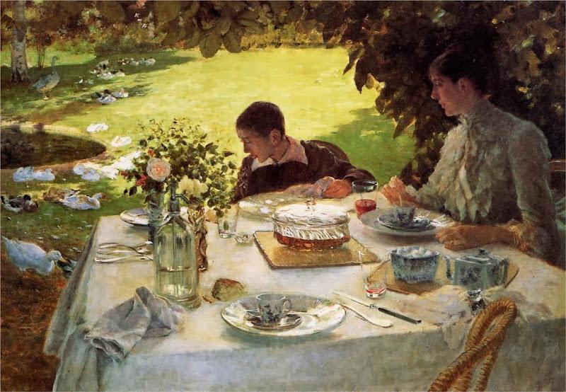 Giuseppe de Nittis - Breakfast in the Garden