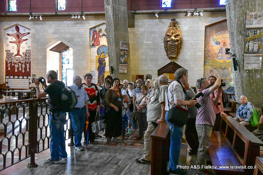 Экскурсия Светланы Фиалковой в Базилике Благовещения в Израиле.