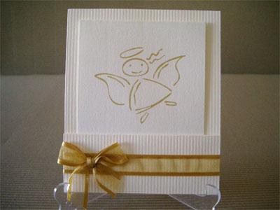 Invitación angel para boda