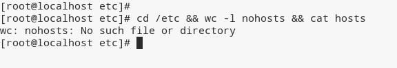 Linux && command