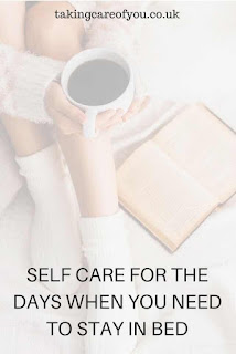 Self care ideas when you need to take a mental health day. Its a busy life, if you are having a bad day and the stress is too much why not have a duvet day and try out these self care tips. Just relax and take care of yourself