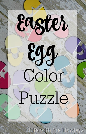 Easter Egg Color Puzzles- Life with the Hawleys