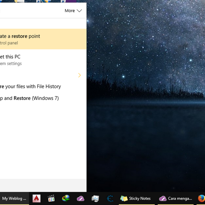 Cara menggunakan System Restore di Windows 10