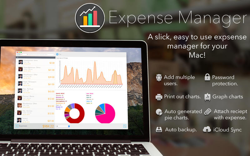 Expense Manager: Helps You to Summarize Expenditures Easily