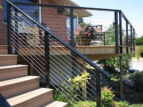 black aluminum deck railing idea