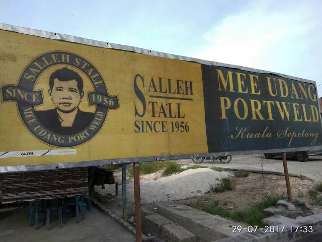 Mee Udang Portwell Kuala Sepetang - Salleh Stall since 1956