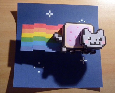 Nyan Cat Paper Toy