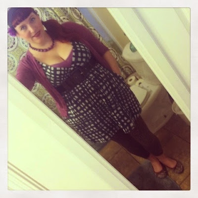Leopard Print, Zebra Print and Gingham Mixed Print Pin Up Style Plus Size BBW Outfit for the Zoo