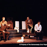 Kevin Miller, Bob Laurilliard, Donna Newton, David Putnam and Christopher Foster in LOOK HOMEWARD, ANGEL (R) - March 1994.  Property of The Schenectady Civic Players Theater Archive.