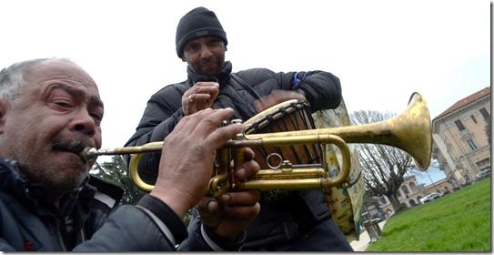 Trompetista em Lucca - fevereiro de 2018