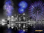 fireworks above skyline -- just some clipart I found online for this