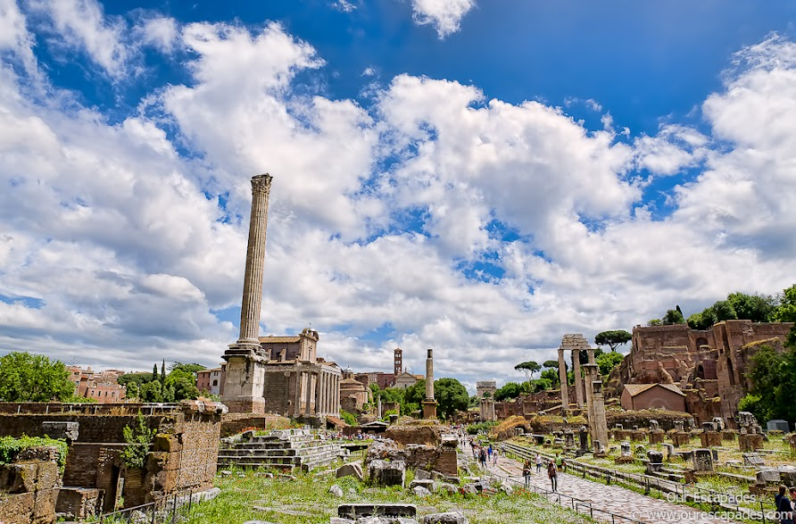 View of Roman Forum from near Capitoline Hill