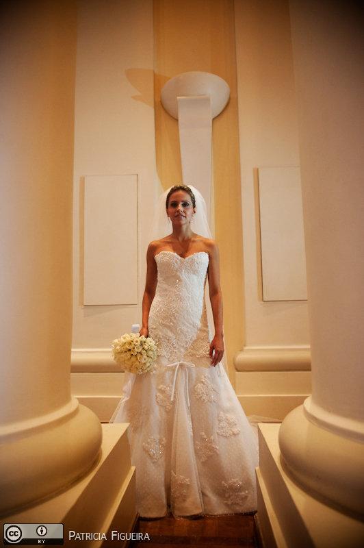 Foto de casamento 0368 de Paloma e Marcelo. Marcações: 06/11/2010, Casamento Paloma e Marcelo, Fotos de Vestido, Heloisa Albuquerque, Rio de Janeiro, Vestido, Vestido de Noiva.
