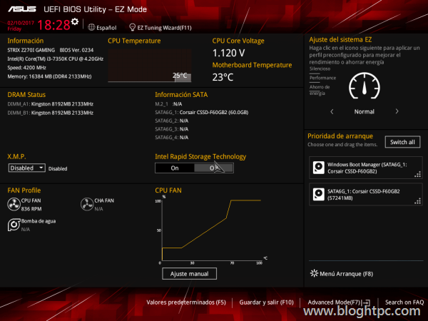 BIOS Asus STRIX Z270i GAMING