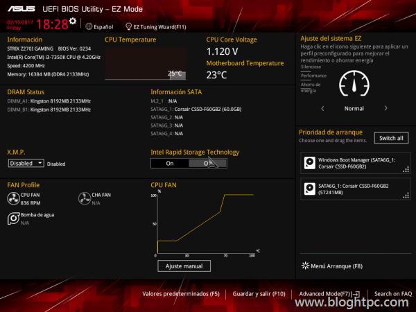 BIOS Asus STRIX Z270i GAMING