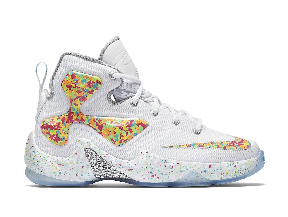 "Available Now: LEBRON XIII QS ""Fruity Pebbles"" 