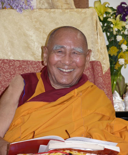 Geshe Sopa teaching at Vajrapani Institute, California, April, 2009. Photo by Kalleen Mortensen.