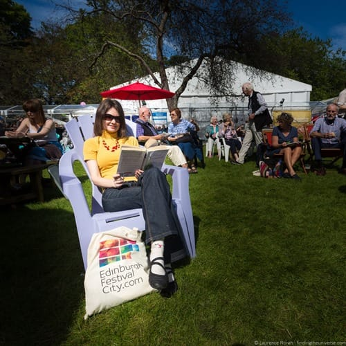 Jess at book festival