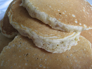 Close up view of pancakes