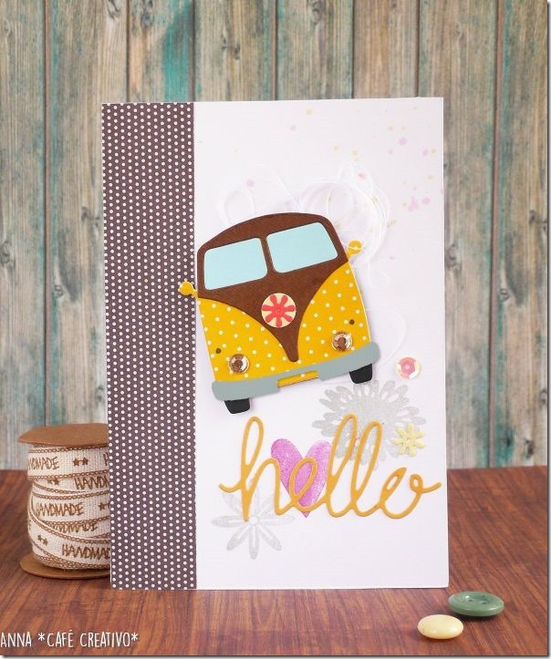 Card Summer Travel con fustella Sizzix