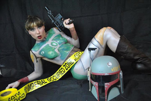STAR WARS BODY PAINTED COSPLAY BABES 01