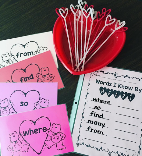 https://www.teacherspayteachers.com/Product/Words-I-Know-By-Heart-Freebie-2992042