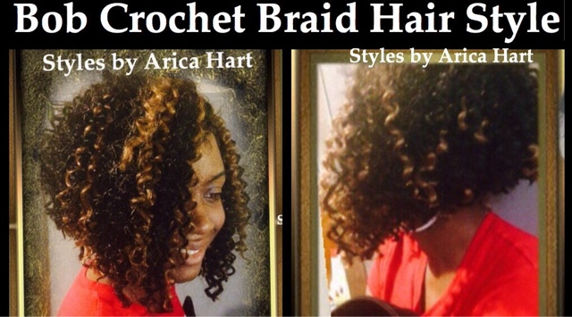Crochet braid, hair,  black hair, bob, braids, protective styles
