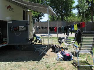 Op de camping van Navarrete