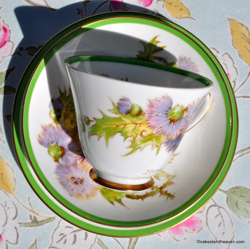 Royal Doulton Glamis Thistle H.4601 vintage teacup trio
