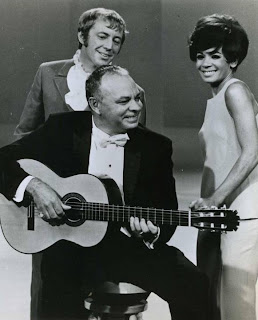 Promo photo from The Shirley Bassey Show September 13, 1968. With guitarist Laurindo Almeida.