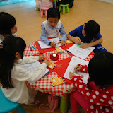 Kids working with our Activity Books.