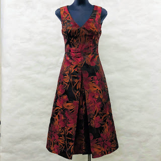 Black Halo Inverted Pleated Dress
