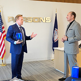 Jim Garrettson Presents 2020 Wash100 Award to Chuck Harrington, Chairman and CEO of Parsons