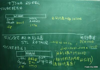 SIC/XE格式三及格式四目的碼比較