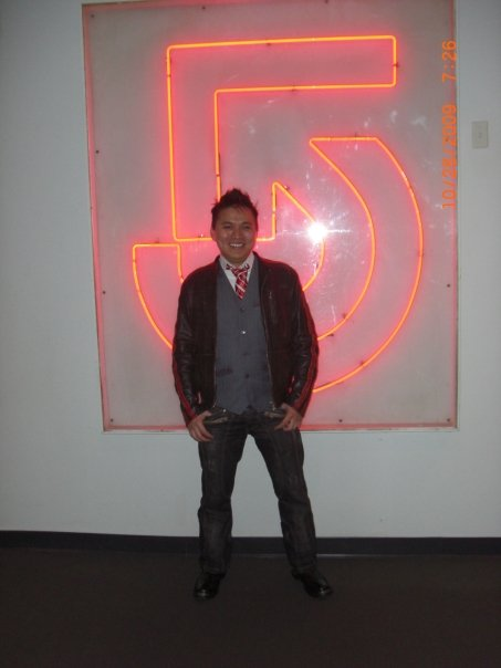 Asian Playboy In Front Of The Channel 5 Logo 2, Asian Playboy