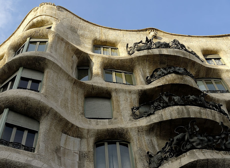 Casa Mila - La Pedrera (The Quarry) by Antoni Gaudi. Barcelona