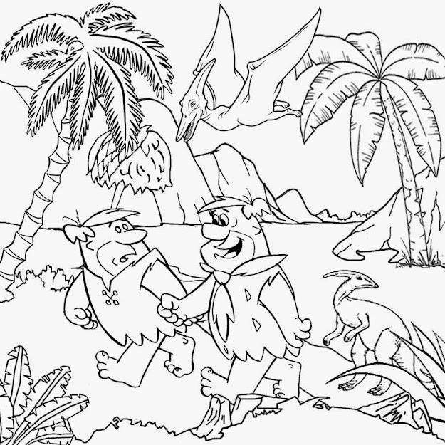 Pictures Barney Fred Flintstones Coloring Pages For Teens Printable
