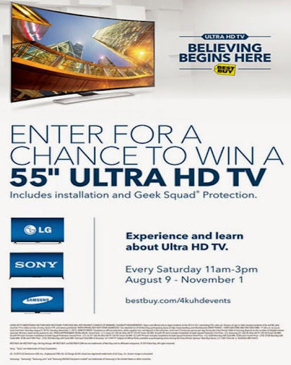 "Win a 55"" 4K Ultra HD TV at Best Buy #UHDatBestBuy"