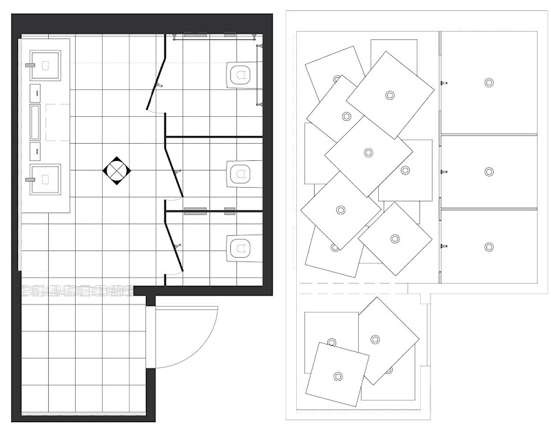 The layout is standard; a handicap accessible commercial bathroom. On  title=