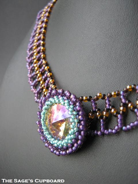 Purple Sunlight Rivoli Collar
