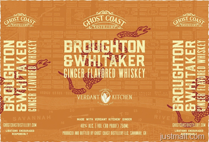 Ghost Coast Distillery - Broughton & Whitaker Ginger Flavored Whiskey