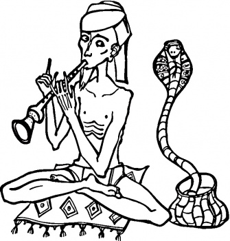 Snake enchantress coloring pages