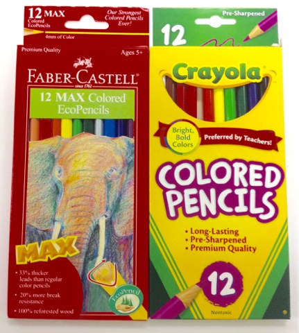 Art With Mr. E: COLORED PENCIL: CRAYOLA vs FABER CASTELL