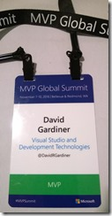 My MVP Summit nametag