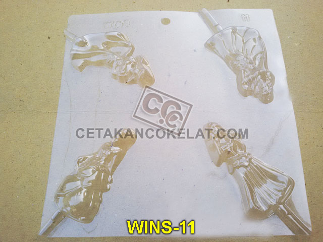 cetakan coklat cokelat WINS11 WINS011 princess lolipop mold mould