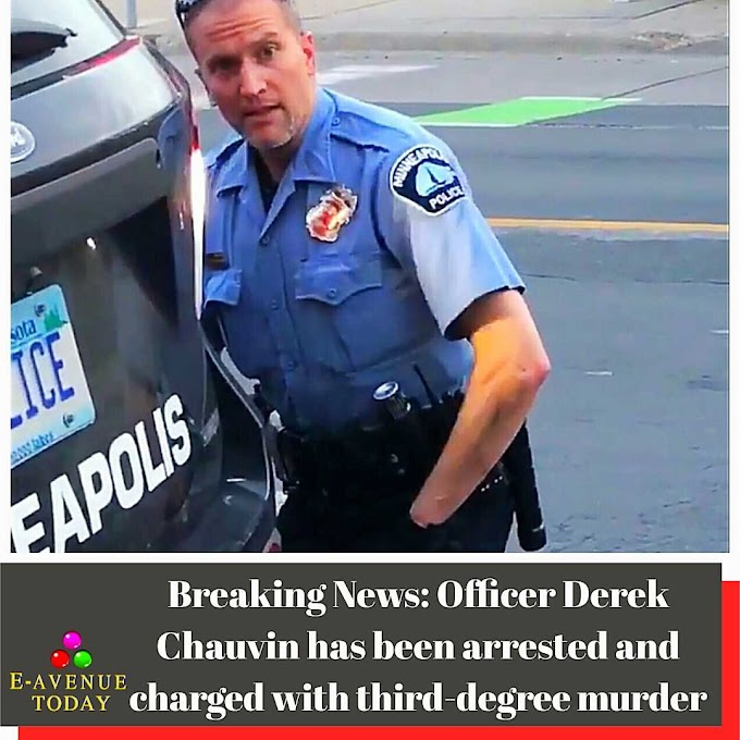 Breaking News: Officer Derek Chauvin has been arrested and charged with third-degree murder
