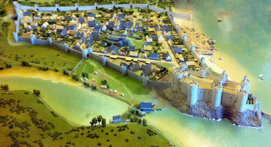 Conwy_castle,_early_1300s