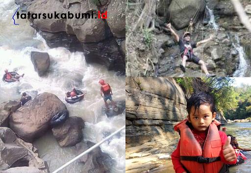 Wahana Anak Canyon Playing, River Tubing, Sawer Climbing Pertama di Sukabumi