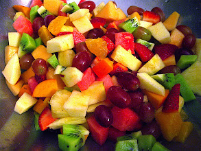 Photo: diced fruit for fruit salad