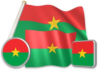 Burkinabé flag animated gif collection